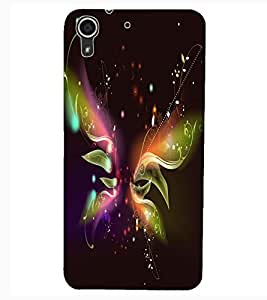 ColourCraft Digital Butterfly Design Back Case Cover for HTC DESIRE 626