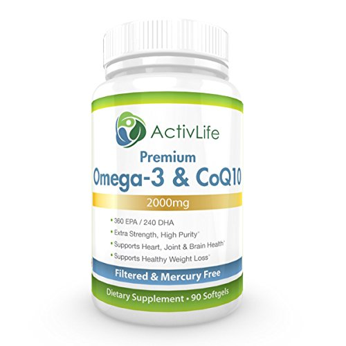 Activlife omega 3 fish oil and coq10 2000mg optimizes for Coq10 and fish oil