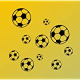 WANDTATTOO, Wand Aufkleber, Sticker Fußball Ball Bälle Sport M01S2 /schwarz