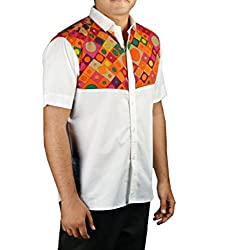 Riverbero Men's Casual Shirt (SN_DHS_227_White_38)