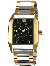 Spyn Exclusive Golden Square Casual Wrist Watch For Men
