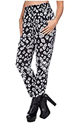 2LUV Women's Sassy Draped Harem Pants With Pockets
