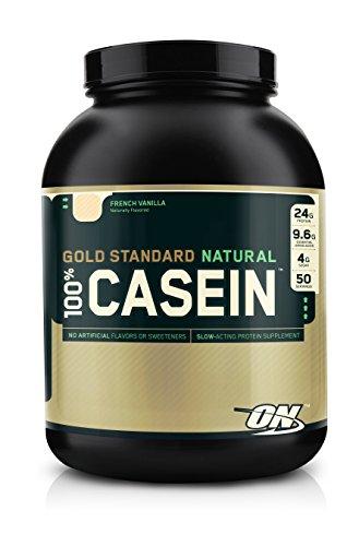 Optimum Nutrition 100% Casein Protein, French Vanilla, 4 Pound Image
