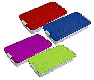 unterbettbox bettkasten bettcontainer blau k che haushalt. Black Bedroom Furniture Sets. Home Design Ideas
