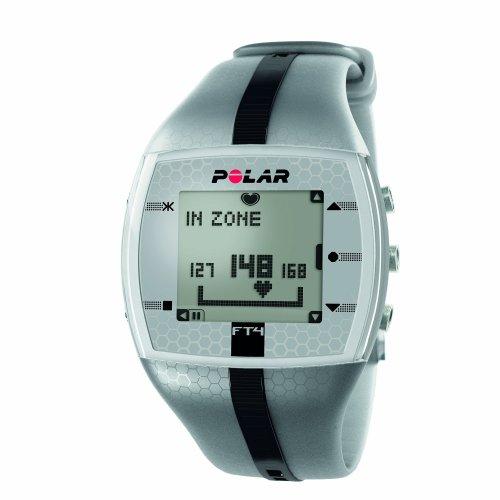 【日本正規品】POLAR(ポラール) フィットネスモデル ハートレートモニター FT4M シルバー/ブラック 90039178