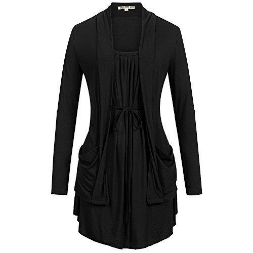 khujo -  Maglia a manica lunga  - Abbigliamento - Basic - Maniche lunghe - Donna nero 44