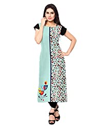 Shivam Women's Crepe Kurti (VT133_Multi-Coloured_38)