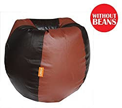 Orka XL Bean Bag Cover - Brown and Tan (With out beans )