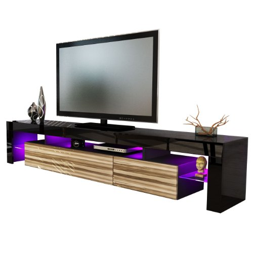 TV Stand Unit Lima V2 in Black / Baltimore Black Friday & Cyber Monday 2014