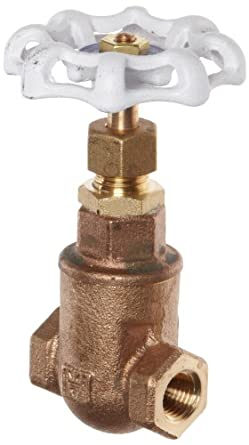 Milwaukee Valve UP105 Series Bronze Gate Valve, Potable Water Service, Non-Rising Stem, NPT Female