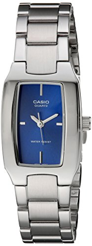 Casio Women's LTP1165A-2C Classic Sleek Silver-Tone Analog Watch (Ladies Blue Dial Watch compare prices)