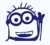 Blue Minion Despicable Me Peeking Window Vinyl Decal Sticker JDM Bear