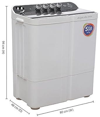 Videocon VS75Z11 Zaara Royale Semi-automatic Top-loading Washing Machine (7.5 Kg, Ebony Black)