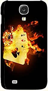 Incredible multicolor printed protective REBEL mobile back cover for Samsung I9500 Galaxy S4 D.No.N-T-3484-S4