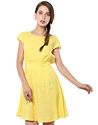 XnY Women's Dress (DR 1020027_Yellow_14)