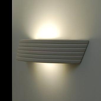 Keramik Wandlampe Wandleuchte Lampe bemalbare Leuchte Flurlampe Quadrat braun