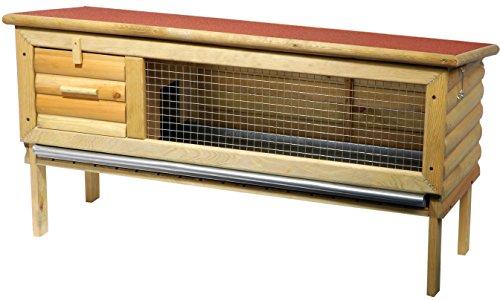 dobar-23002e-Robuster-Blockhaus-Kleintierstall-aufklappbares-Bitumendach-abgetrennter-Ruheraum-Zinkschublade-Mae-120-x-40-x-60-cm-rot