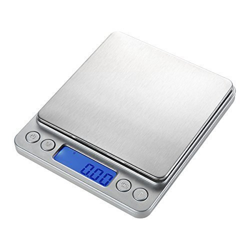 WAOAW 500g/0.01g Digital Pocket Stainless Kitchen food Scale, 0.001oz Resolution