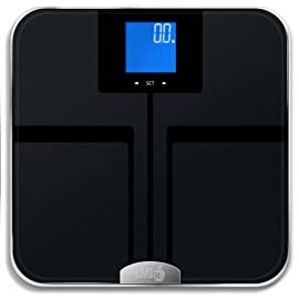 EatSmart Precision GetFit Digital Body Fat Scale w/ 400 lb. Capacity & Auto Recognition Technology