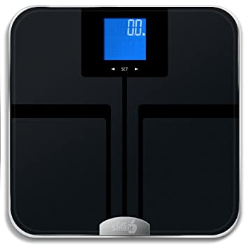 EatSmart Precision GetFit Digital Body Fat Scale w/ 400 lb. Capacity & Aut​o Recognition Technology