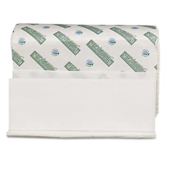 "Boardwalk 23 Green Seal Paper Towel, Multi-Fold, 9.125"" Width x 9.5"" Length, White (12 Pack of 250)"