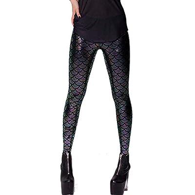 Fashion Story Jeggings Shiny Mermaid Skinny Leggings Stretchy Bodycon Pencil Pants