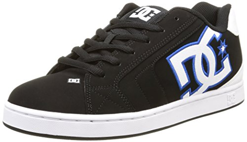 DC ShoesNet M - Scarpe da skateboard Uomo , Nero (Noir (Black/White/Blue)), 44