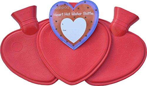Medipaq® Cuore Acqua calda bottiglie-confezione da 3-Uno Di Ogni Colore, 3x Pack Water Bottles