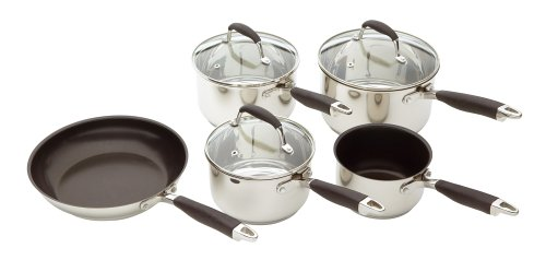 Kitchen Craft Stainless Steel Five Piece Cookware Set