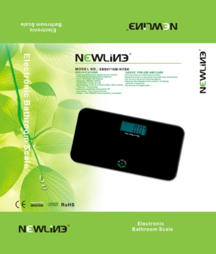 NewlineNY Brush Flower Sense On Digital Bathroom Scale