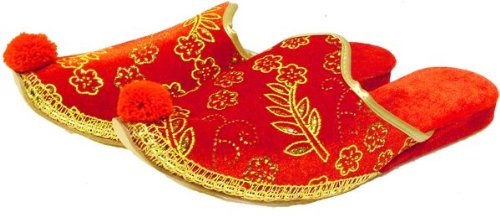 Image of Ottoman Style Slippers - Red (Carik) (B002WCBMYC)