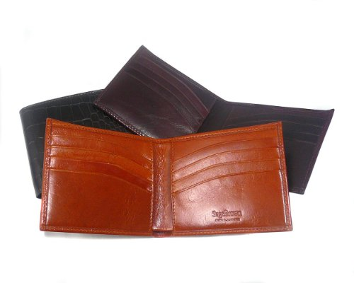 Sage Brown Genuine Leather Compact Classic Wallet