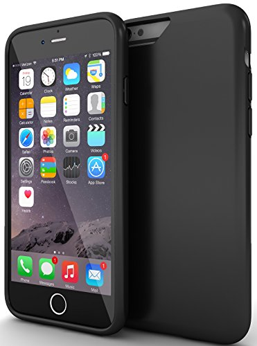 "iPhone 6 Case : Stalion® [Slider Series] iPhone 6 (4.7"") Hard Case (Matte Black) Premium Coated Non Slip Texture [Lifetime Warranty] Sliding Style Seamless Perfect Fit + Protective Microfiber Soft-Interior + Smooth Scratch Proof Surface"