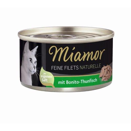 Miamor Feine Filets naturelle Bonito-Thunfisch | 24x 80g Katzenfutter