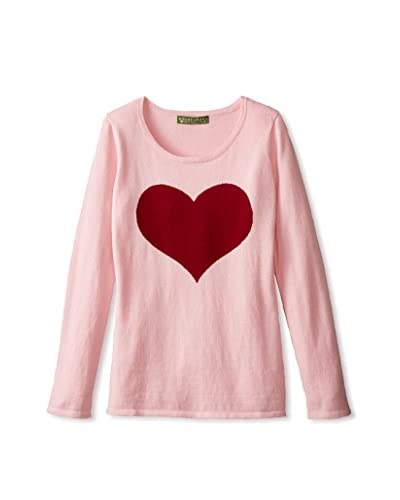 Amber Hagen Women's Large Heart Pullover Sweater