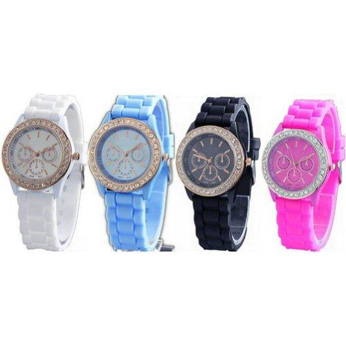 WLM Round Fashion 4 Color Clock 3 Dials Luxury Sports Unisex Quartz Wrist Watch Watches
