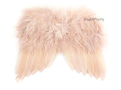 Natural Feather Angel Butterfly Wings, Newborn, Baby, Photo prop- Color: Blush