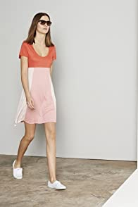 Short Sleeve Color Block Slub Jersey Dress