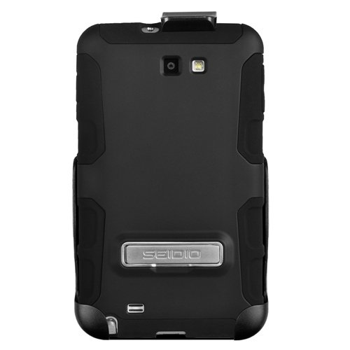 Seidio BD2-HK3SSGNTK-BK ACTIVE Case and Holster Combo with Metal Kickstand for Use with Samsung Galaxy Note (Black)