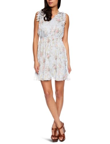 Yumi Deisy Floral Prt Chiffon Women's Dress Blue