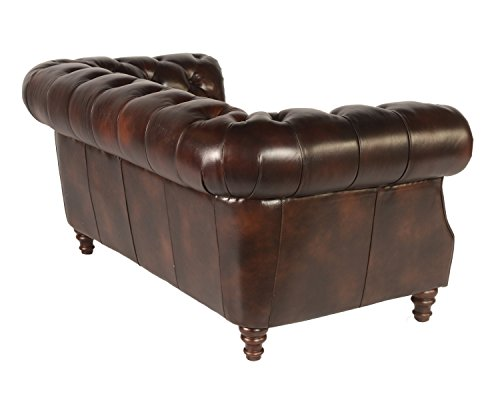 Lazzaro 1011 Chesterfield Leather Sofa - In Stock 1