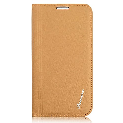 Mkt Original Genuine Fashion Design Cowhide Leather Flip Stand Case Folio Cover For Samsung Devices (Moccasin, For Galaxy S4) front-461706
