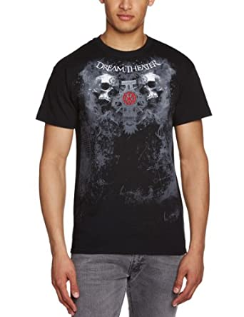 Live Nation - T-shirt Homme Dream Theater - Double Skull - Noir (Black) - Small