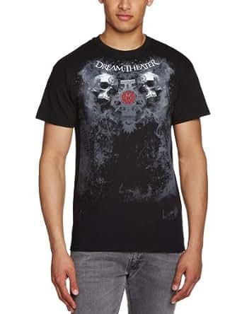 Live Nation - T-shirt Homme Dream Theater - Double Skull - Noir (Black) - Small