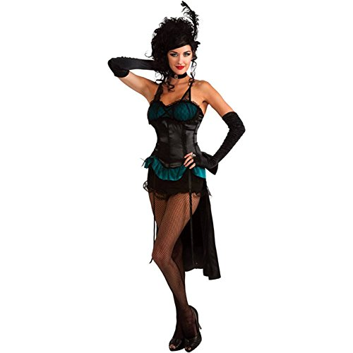 Turquoise Burlesque Showgirl