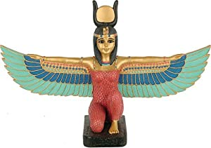 Kneeling Winged Isis, Gold Details, Small