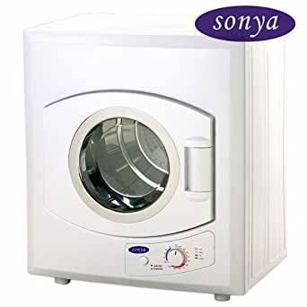 Sonya Portable Compact Small Laundry Dryer Apartment Size 110vstainless Steel Drum Transparent Lid 8.8lbs Capacity/2.65cu.ft.