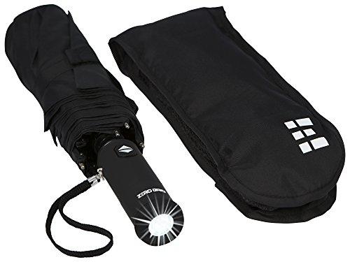 Compact & Automatic Travel Umbrella w/Flashlight Handle (Black) (Small Handle Umbrella compare prices)