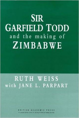 Sir Garfield Todd and the Making of Zimbabwe (British Academic Press)