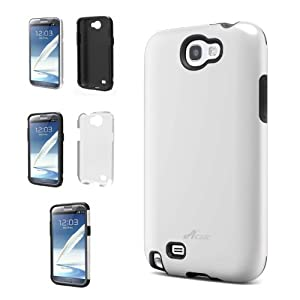 Acase Samsung Galaxy Note 2 Superleggera PRO Dual Layer Protection Case AT&T, Sprint, T-Mobile and Verizon Samsung Galaxy Note 2 (White/Black))